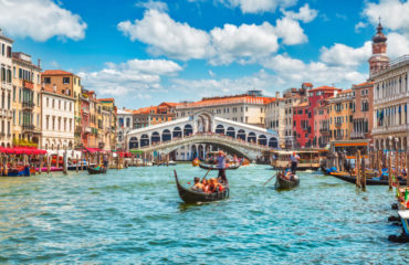 Bridge Rialto on Grand canal, Venice Italy_696042793