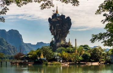Kyauk Kalap Pagoda in Hpa-An, Myanmar_1181664136