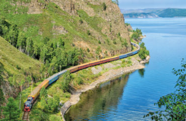 Lake Baikal_Tsar's Gold train at Circum Baikal_Koniuskin
