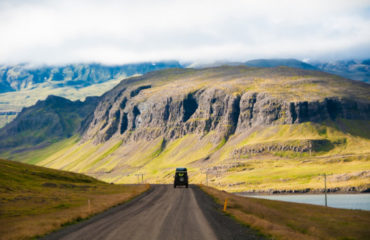 Iceland landscape with a road_556283251