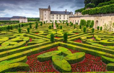 garden of Villandry castle in the Loire Valley,France_457999750